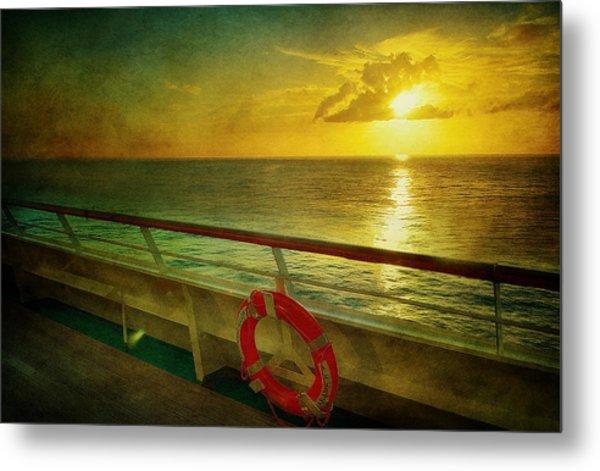 Aboard The Ship Metal Print by Kathy Jennings