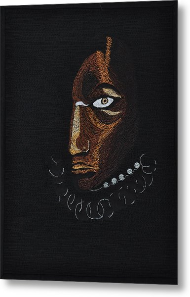 Aboriginal Woman Metal Print