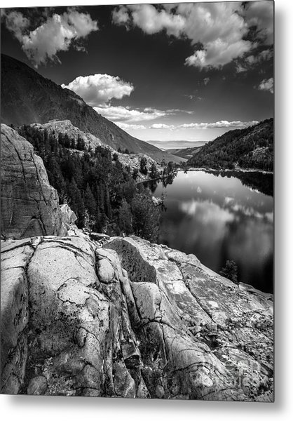 Above Cooney Lake Metal Print