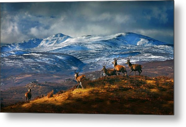 Above Strathglass Metal Print