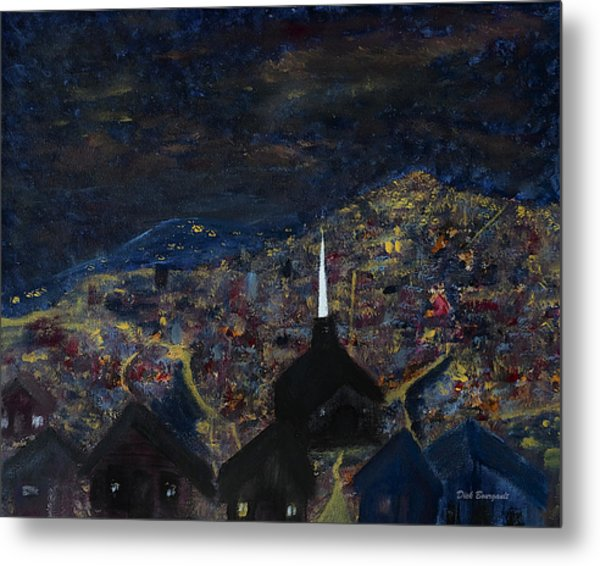 Above The City At Night Metal Print