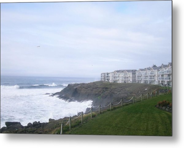 Above The Cliff Metal Print