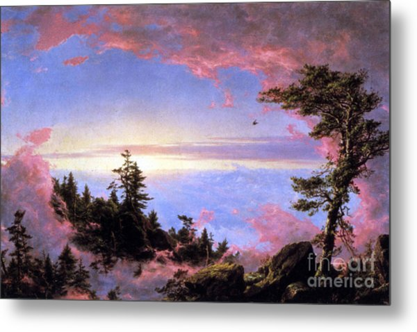Above The Clouds At Sunrise By Frederick Edwin Church Metal Print