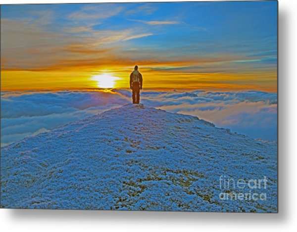 Above The Clouds Metal Print by Lynne Sutherland