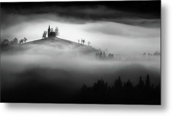 Above The Mist Metal Print