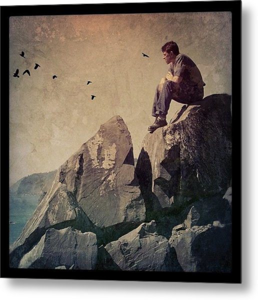 Above The Pacific Metal Print