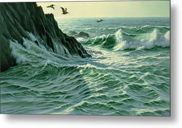 Above The Surf Metal Print