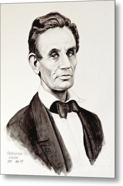 Abraham Lincoln At 49 Metal Print