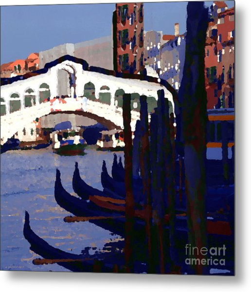 Abstract - Rialto Bridge Metal Print by Jacqueline M Lewis