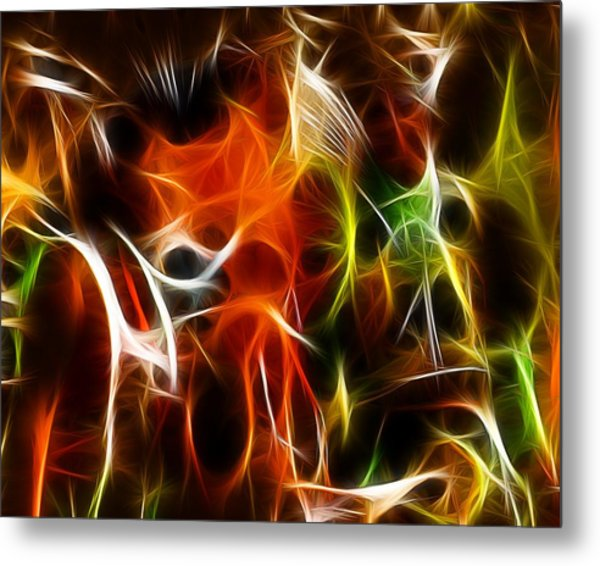 Abstract 001 Metal Print by Wayne Wood