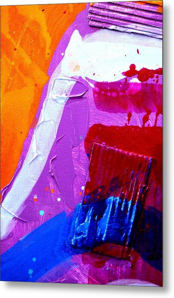 Abstract  19614 Cropped Vi Metal Print by John  Nolan