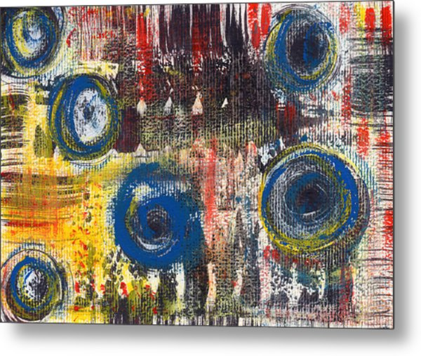 Abstract 2 Metal Print by Angela Bruno