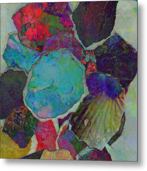 Abstract Art Torn Collage  Metal Print by Ann Powell