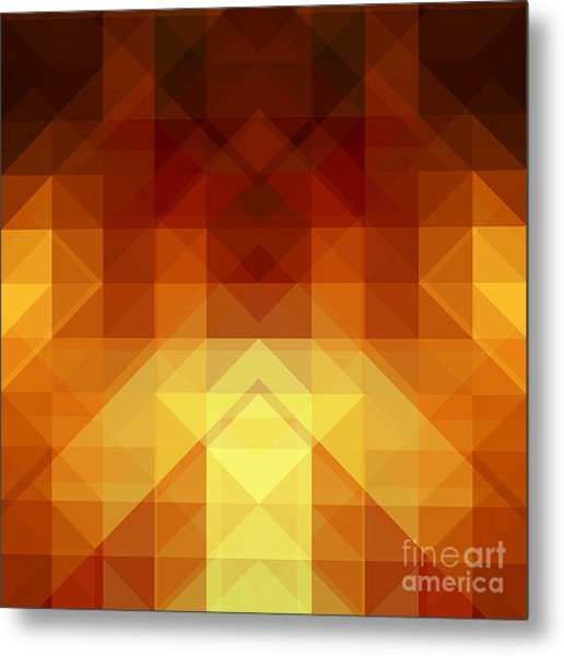 Abstract Background From Triangle Shapes Metal Print