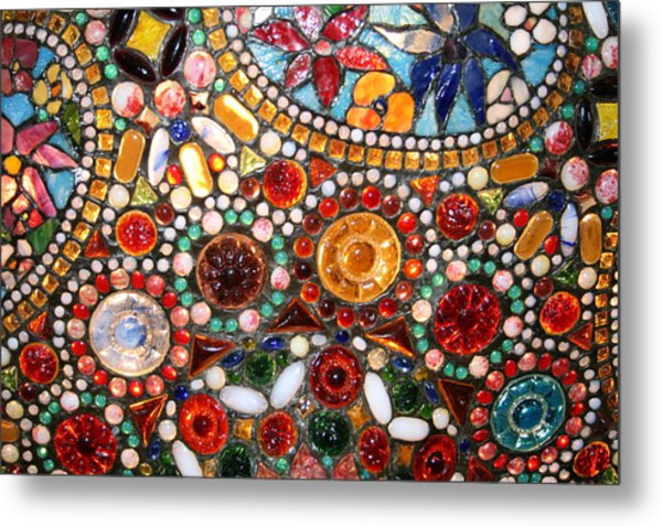 Abstract Beads Metal Print