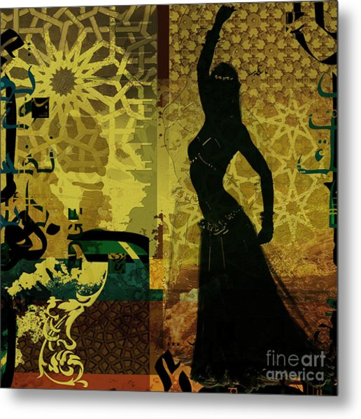 Abstract Belly Dancer 11 Metal Print