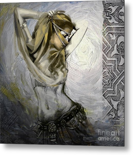 Abstract Belly Dancer 12 Metal Print
