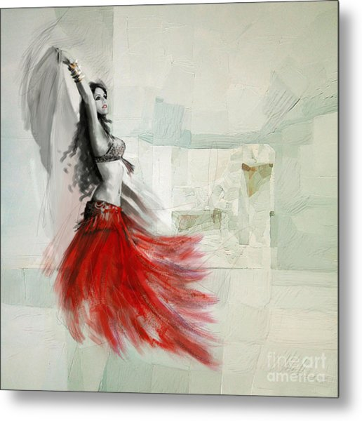 Abstract Belly Dancer 18 Metal Print