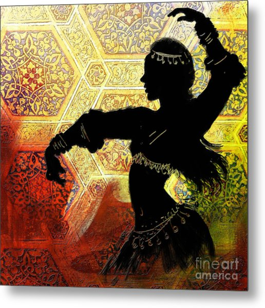 Abstract Belly Dancer 3 Metal Print