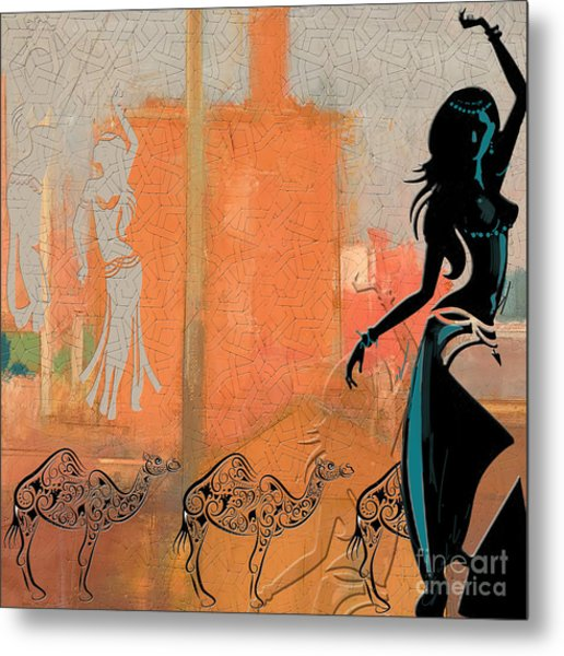 Abstract Belly Dancer 4 Metal Print