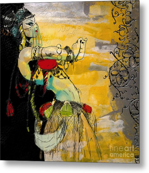 Abstract Belly Dancer 6 Metal Print