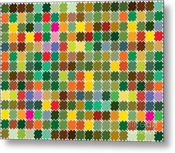 Abstract Bright Colorful Seamless Metal Print