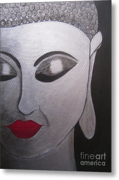 Abstract Buddha Metal Print by Priyanka Rastogi