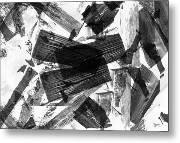 Abstract Chunky Metal Print