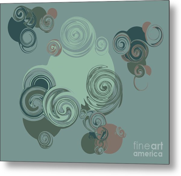 Abstract Circles Pattern Background Metal Print by Castecodesign