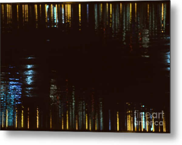 Abstract City Lights Metal Print