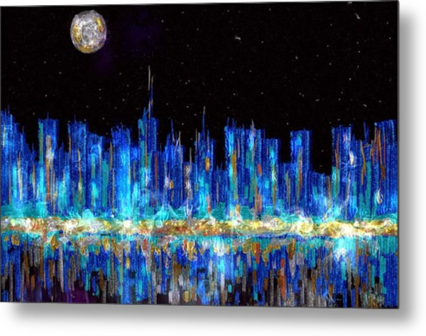 Abstract City Skyline Metal Print