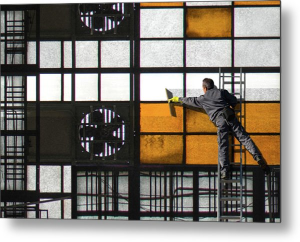 Abstract Cleanliness Metal Print