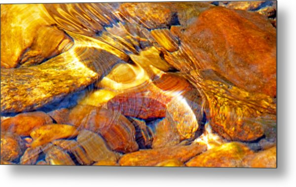 Abstract Creek Water 4 Metal Print