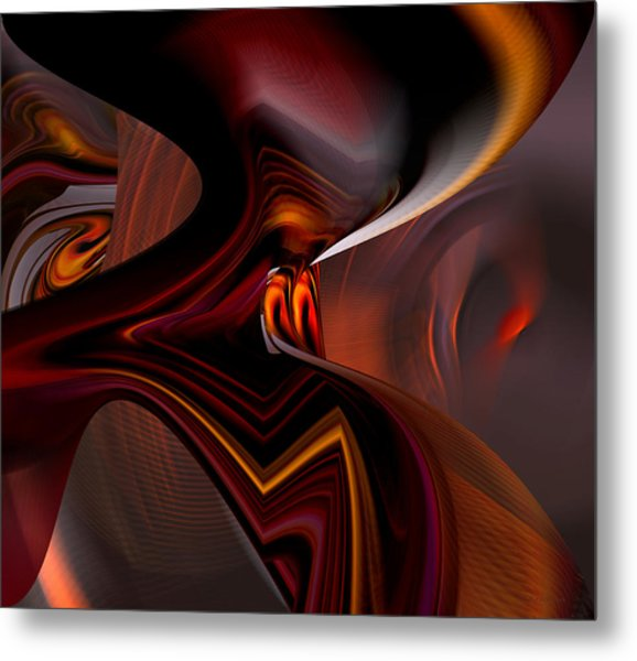 Abstract - Dark Passages Metal Print