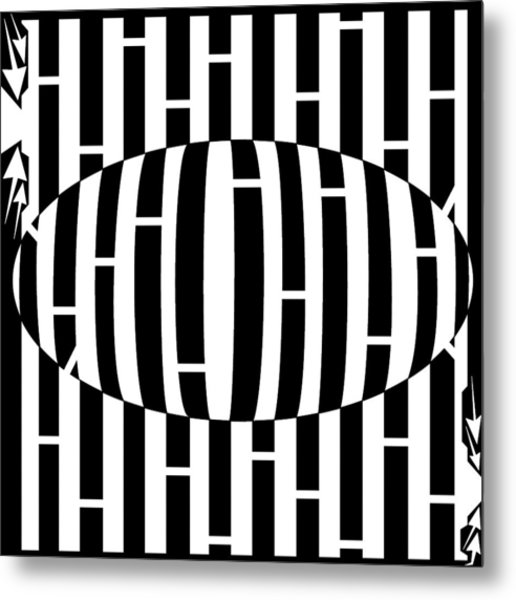 Abstract Distortion Egg Disturbance Maze Metal Print by Yonatan Frimer Maze Artist