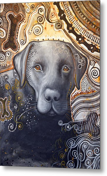 Abstract Dog Art Print ... Rudy Metal Print