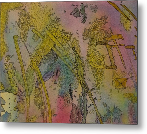 Abstract Doodle Metal Print