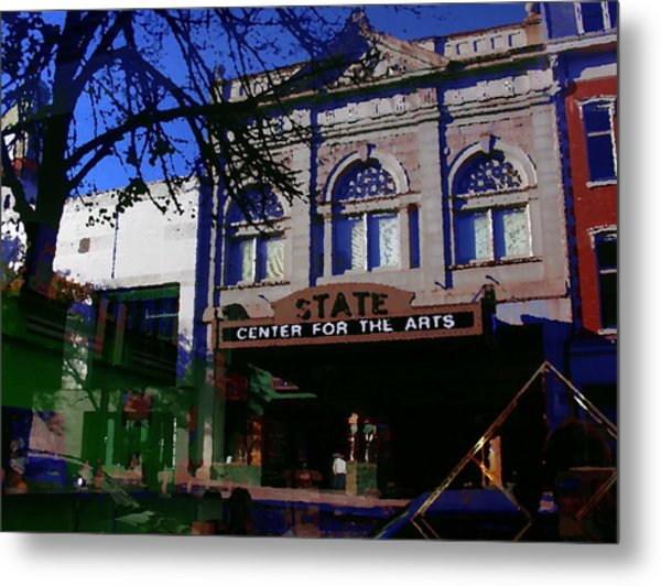 Abstract - Easton Pa - State Theater Center For The Arts Metal Print by Jacqueline M Lewis