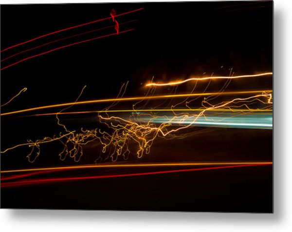 Abstract Evening Lights 1 Metal Print by Chase Taylor