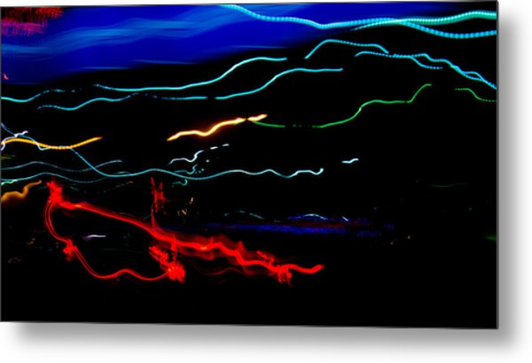 Abstract Evening Lights 2 Metal Print by Chase Taylor