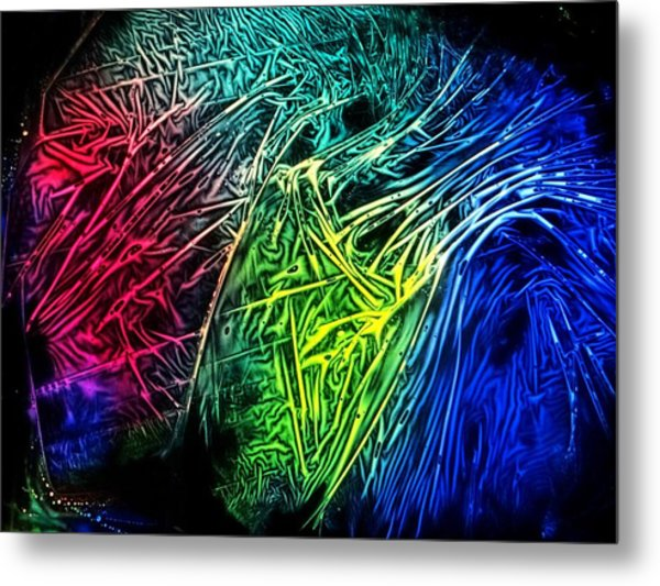 Abstract Experimental Chemiluminescent Photography Metal Print
