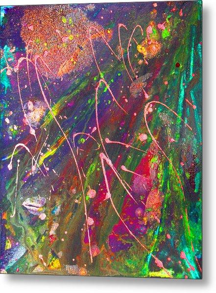 Abstract Fairy Night Lights Metal Print