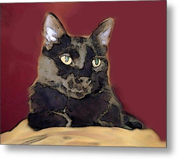Abstract Feline Metal Print