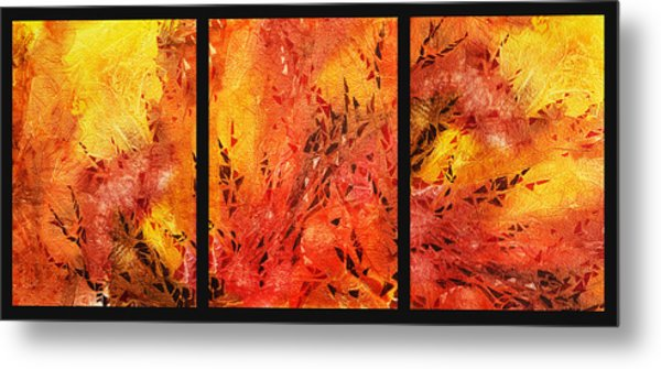 Abstract Fireplace Metal Print