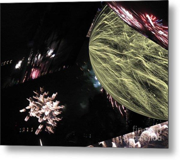 Abstract Firework - Ile De La Reunion - Reunion Island - Indian Ocean Metal Print by Francoise Leandre