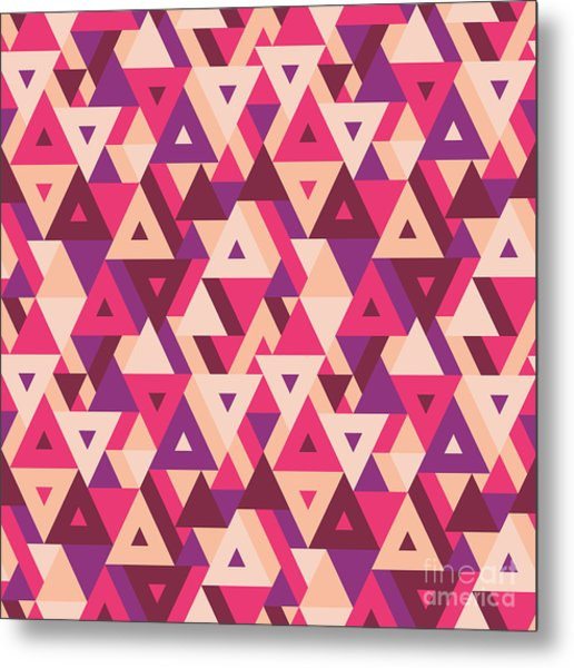 Abstract Geometric Background - Metal Print