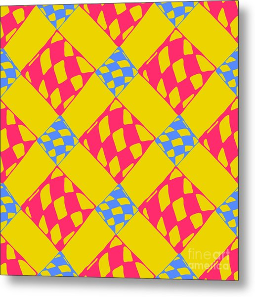 Abstract Geometric Colorful Seamless Metal Print