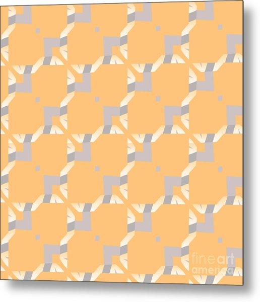 Abstract Geometric Pattern. Vector Metal Print