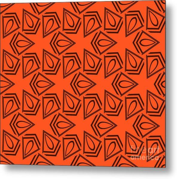 Abstract Geometric Seamless Pattern Metal Print by Alexander Rakov