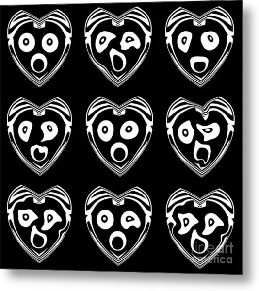 Abstract Geometry Black White Art No.340. Metal Print by Drinka Mercep
